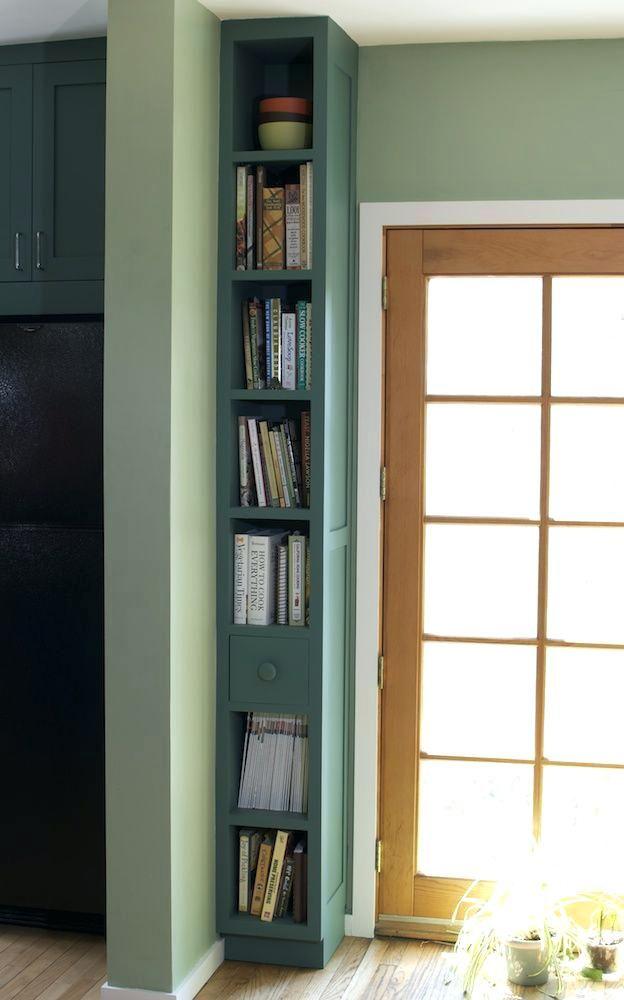 Skinny Bookcase Tall Thin Bookcase Designed Narrow Bookshelf Home Narrow Bookshelf Small Spaces