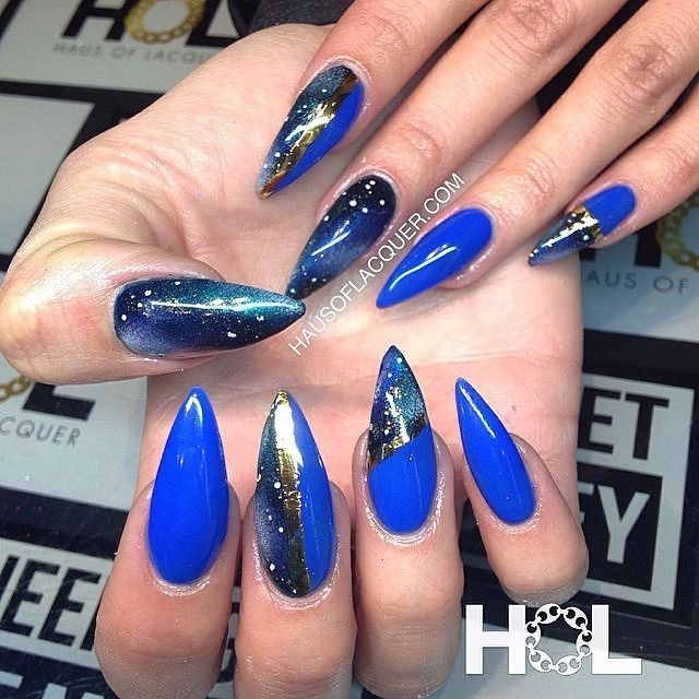 Galaxy claw for @marissalauren_ by @hausoflacquer. Email haus.of.lacquer@gmail.com to book an appnt #crownthequeens #holnails #nail #nails #nailed #nailart #nailswag #nailartclub #vancity #vancouver...
