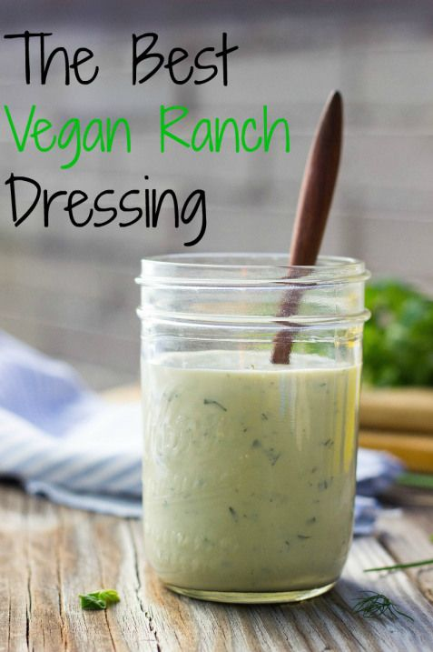 The Best Vegan Ranch Dressing you will ever make!  Great for using as a dip, dressing, and pretty much everything else people use ranch for!
