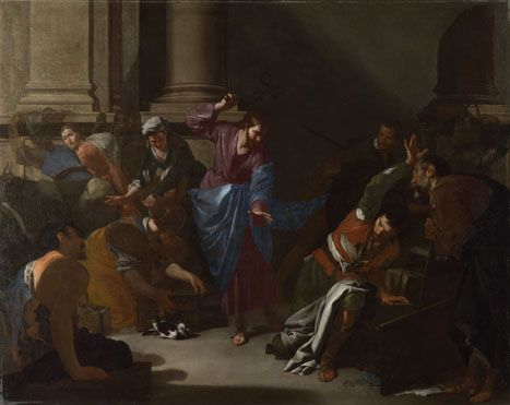 'Christ driving the Traders from the Temple' 1645 - 50 - Bernardo Cavallino