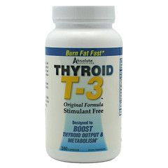 Thyroid T3 For dietary support - http://www.topchoicesupplements.com/collections/fat-loss-energy/products/absolute-nutrition-thyroid-t3-180-capsules