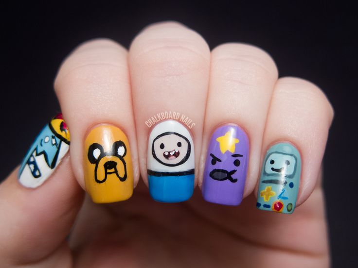 Adventure Time Nail Art. cc. @Searra Dodds