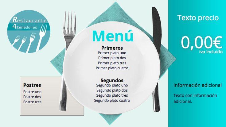 Plantilla anuncio Cafeterías y Restaurantes