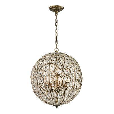 elk lighting elizabethan 8 light pendant in dark bronze