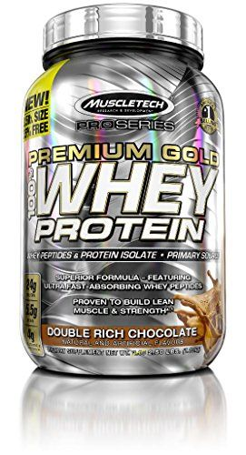 MuscleTech Pro Series Premium Gold 100% Whey Powder Double Rich Chocolate 2.5 Pound
