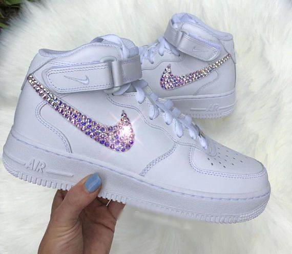 46ed59cd11ba51 Women s Swarovski Nike Air Force 1 Custom Bling Kicks