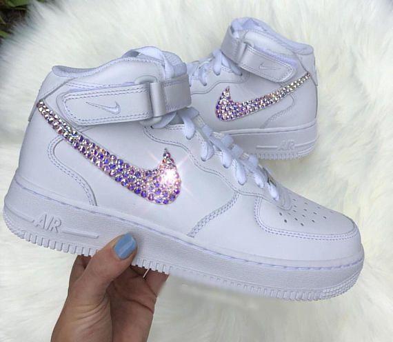 Women s Swarovski Nike Air Force 1 Custom Bling Kicks  689a0d3313c4