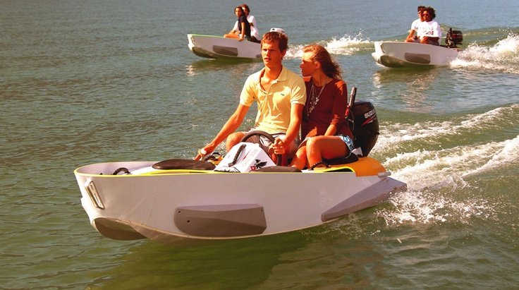 MarineKart.  A lightweight and easy to operate/maintain motorboat.  Looks so awesome.  Video: http://www.youtube.com/watch?v=hmLywQbEQs4