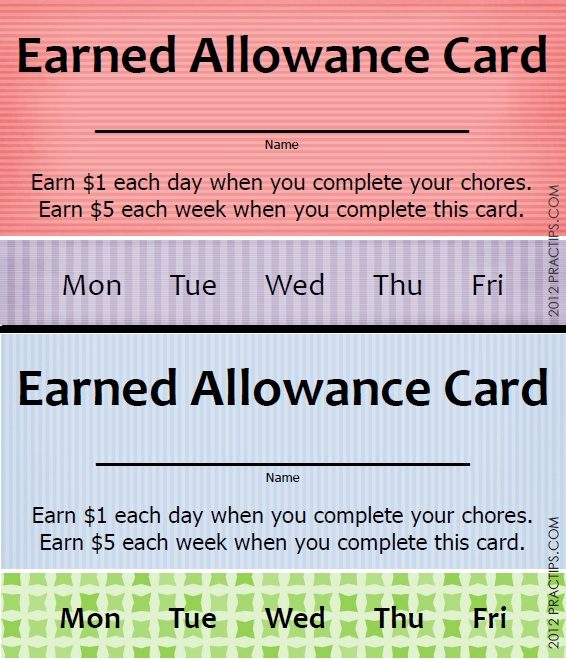 25 best ideas about allowance chart on pinterest chores for Allowance chart template