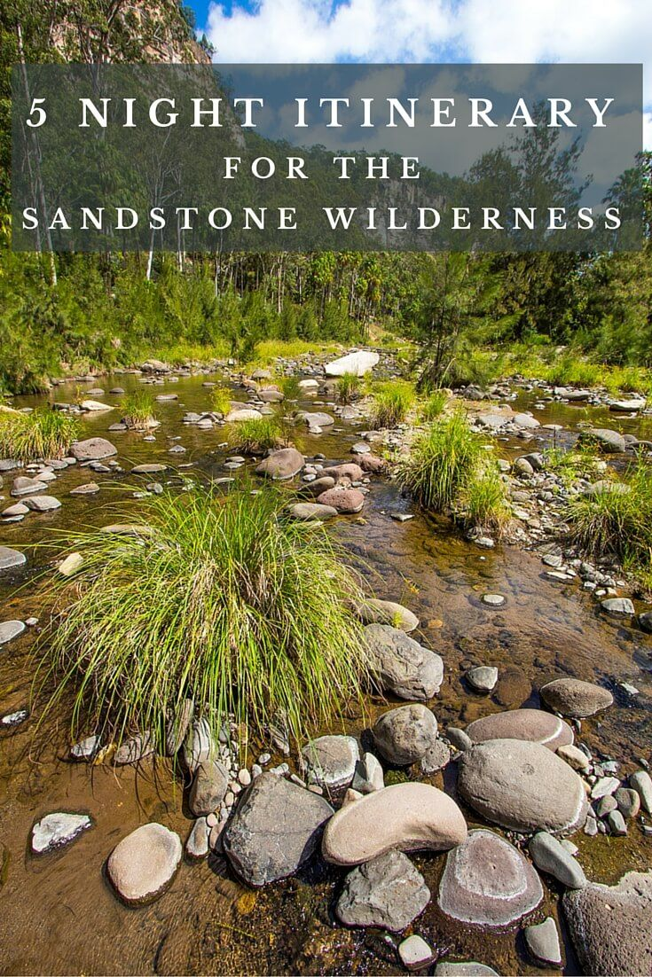 5 night Sandstone Wilderness Itinerary. This area is in Central Queensland and includes Carnarvon Gorge, Rubyvale and the gem fields, Blackwater Tablelands, Yeppoon and Great Keppel Island.