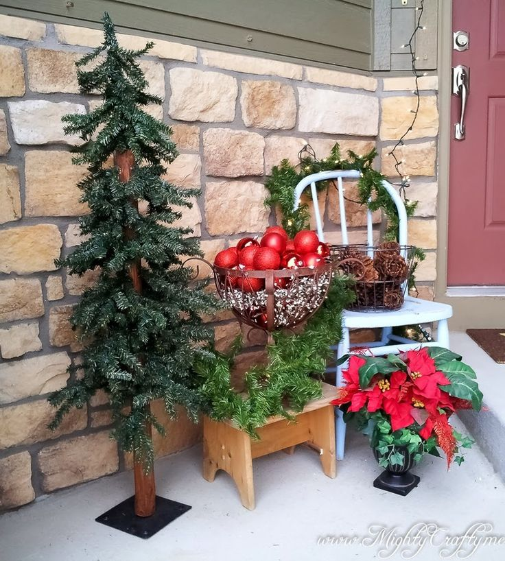 1000+ Ideas About Christmas Porch On Pinterest