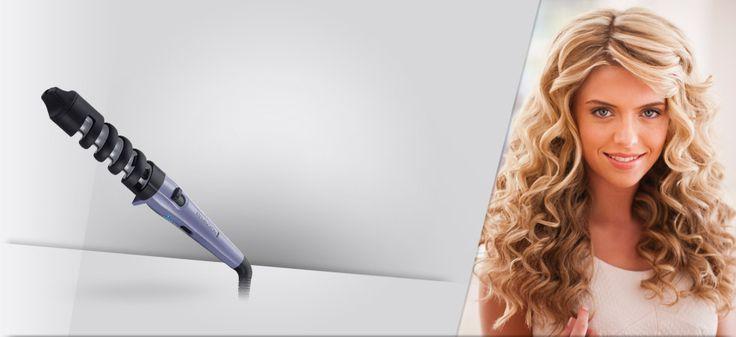 Lokówka Remington Dual Curl do tworzenia dwóch rodzajów loków.