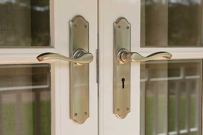 Strongbuild External Door Handles Domino Brass