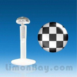 Labret bio acrílico con Plata - logo Grand Prix