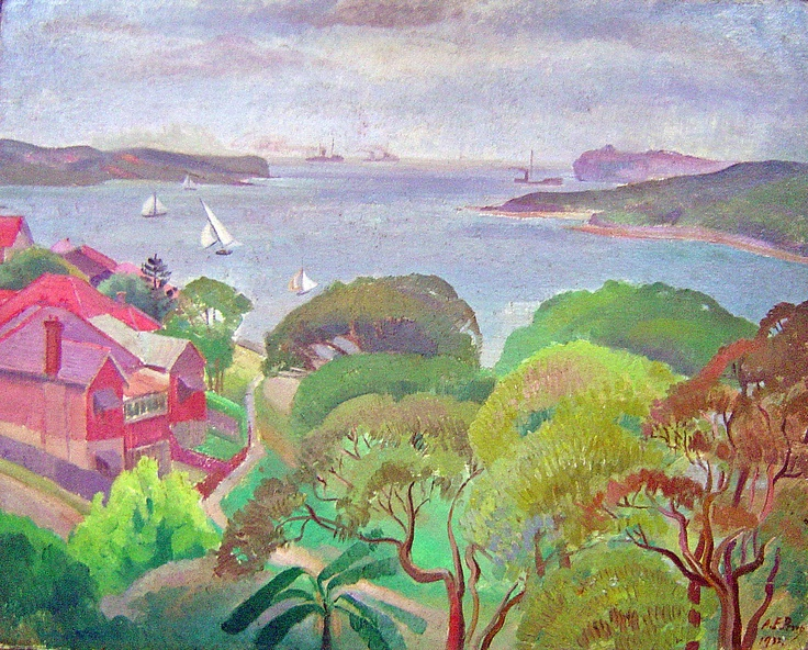 Roland Wakelin Manly 1932. These colours are magnificent. I love it.