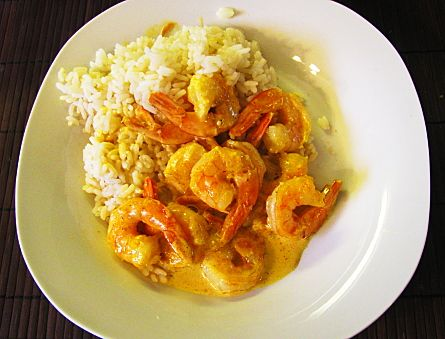 Shrimp Curry Bake Casserole--excellent, but I only use 2 teaspoons of the curry powder.