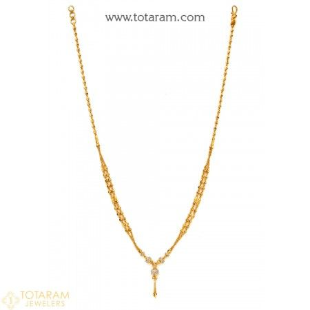 22K Gold Necklace for Women - 235-GN2177 - Buy this Latest Indian Gold Jewelry Design in 12.500 Grams for a low price of  $717.99