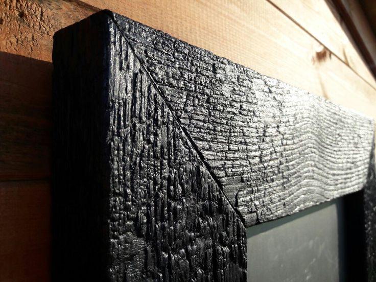 Shou sugi ban oak frame.  Www.piunature.com