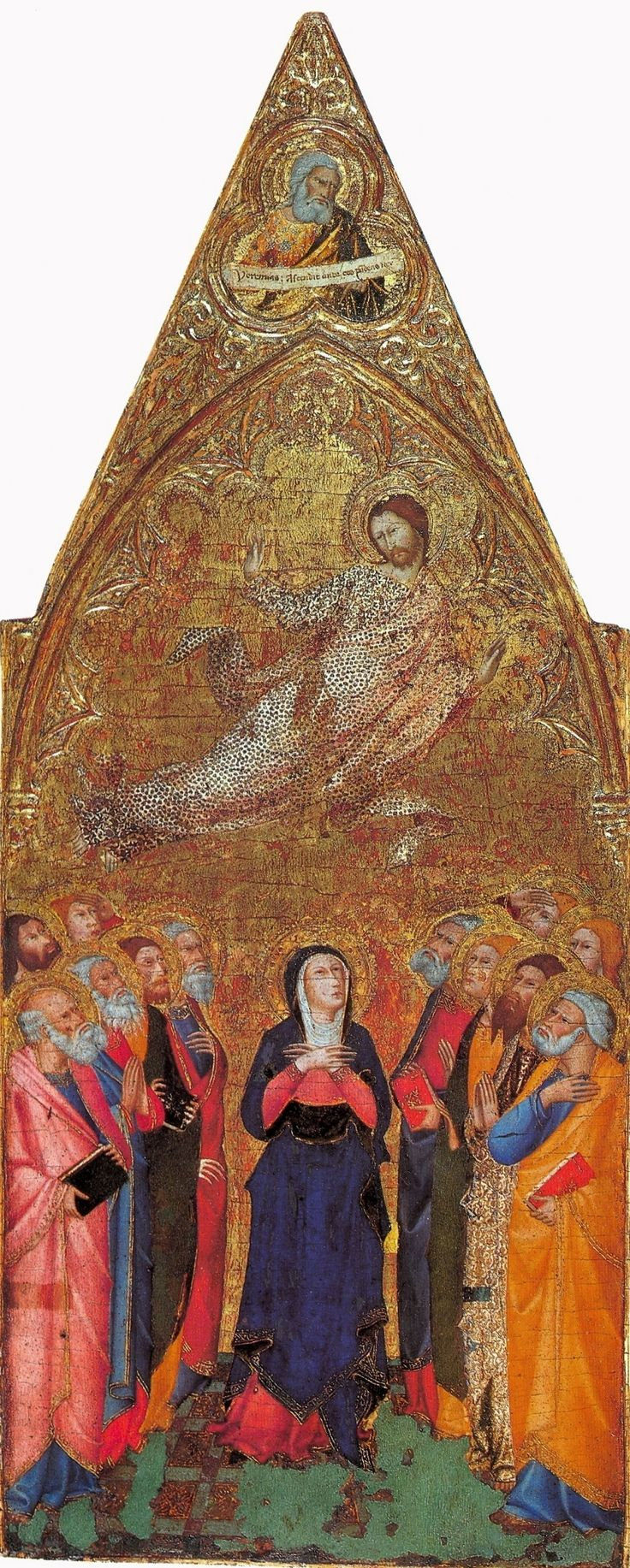 Andrea Vanni - Ascensione di Cristo - 1355-60 - Tempera su legno - The Hermitage, St. Petersburg
