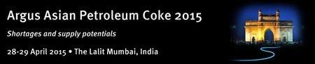 Argus Asian Petroleum Coke 2015 at The Lalit Mumbai, Sahar Airport Road, Mumbai, 400059, India on Tuesday April 28, 2015 at 8:30 am (ends Wednesday April 29, 2015 at 2:30 pm) India is seen as the next big petroleum coke importer by 2016. Coal shortages, combined with domestic refiner Reliance Industries (RIL) preparing to start up its gasification project next year.  Booking: http://atnd.it/23413-0, Price REGISTRATION FEE: USD 1600, Category: Conferences