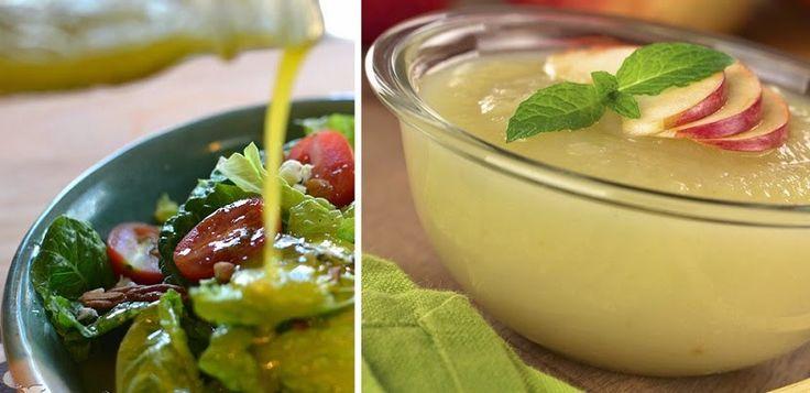Delicioso aderezo para ensaladas con puré de manzana - Vida Lúcida