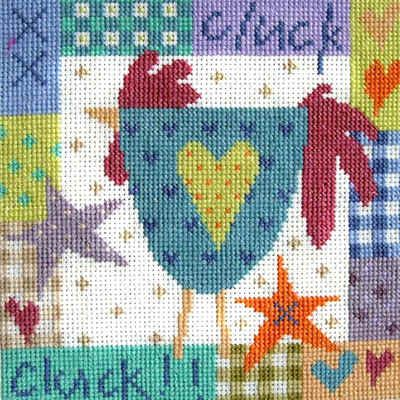 "Cluck Cluck (CSKCC11) Contemporary Chicken cross stitch kit designed by The Stitching Shed. Contents: 14 count aida fabric, anchor threads, needle, chart and full instructions. Size: 6.5"" x 6.5"". RRP £16.50 *Usually dispatched within 5 working days* See the full range of cross stitch kits by The Stitching Shed."