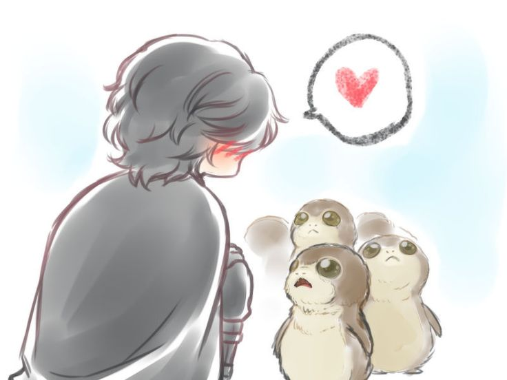Kylo Ren and Porgs << Please tell me that even though Kylo is evil, he will love porgs just like all of us.