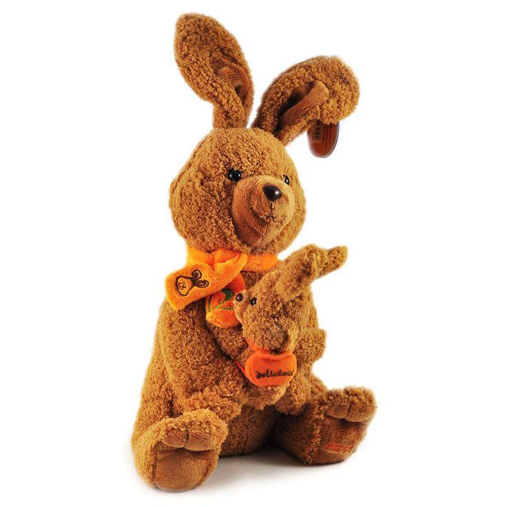 Beppe. Sympatyczna, pluszowa rodzinka królików – królicza mama ze swoją małą pociechą na rączkach.