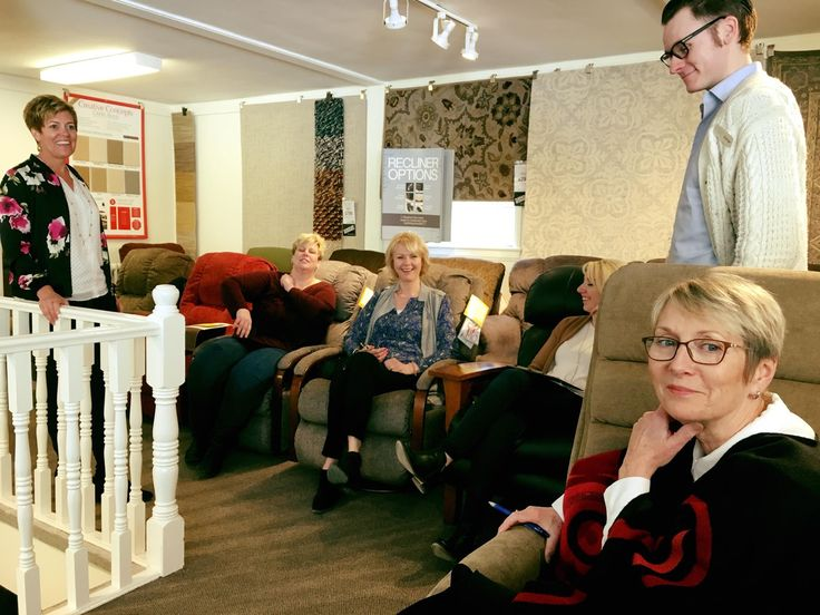 Training is a constant process here @ #goettlersofdublin. Today, we are learning more about wonderful #laZboyrecliners. Thanks for the help Annette!