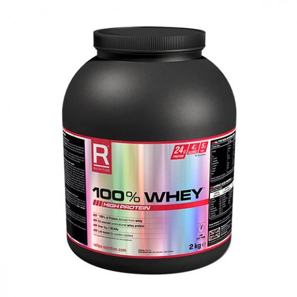 Buy online Reflex Nutrition 100Percent Whey 2Kg at affordable rate from Elite supplements UK. Read product full overview and specification,customers reviews,Nutrition,Ingredients,Directions for Use,free shipping in UK.