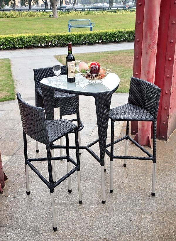 Modern Tosh Furniture Outdoor Patio Black Triangle Bar Set At Gifts For  Youu0027n Me