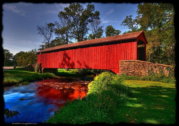 Fool Forge Covered Bridge, Lancaster County, Pennsylvania - Gregg Obst @ flickr