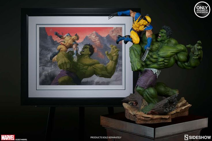 "Sideshow Collectibles a new limited-edition variant art print by Paolo Rivera based on the classic clash between two Marvel Comics titans. The Hulk and Wolverine: First Appearance Variant Premium Art Print recalls the time the two characters did battle in 1974's ""Incredible Hulk"" #181."