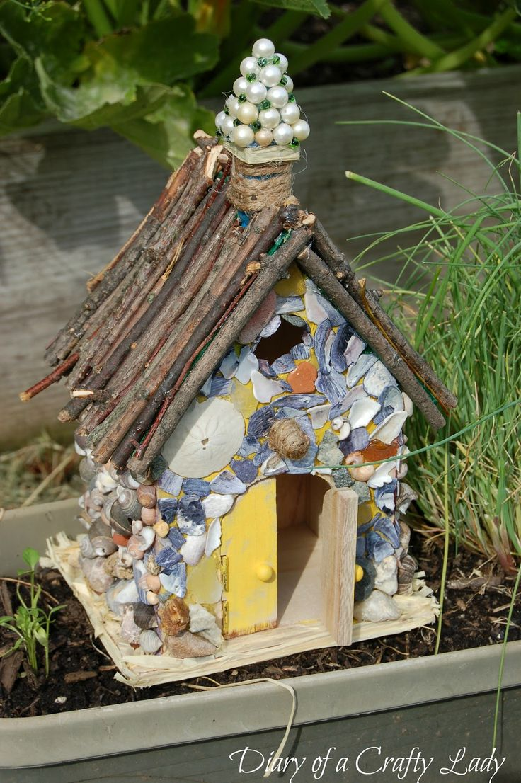 easy to make fairy house had the brilliant idea to make them into fairy houses fairy garden. Black Bedroom Furniture Sets. Home Design Ideas