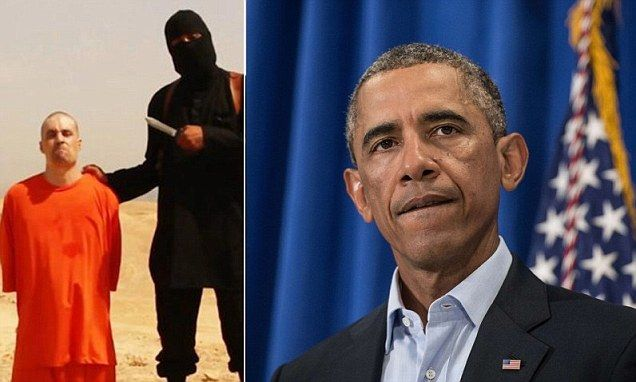 'The entire world is appalled ... We will be relentless': Obama vows to punish ISIS for beheading of American journalist James Foley who he said stood in 'stark contrast' to his 'cowardly killers'  And Then He Rushes Off To Golf Course After Giving Statement On Beheading...