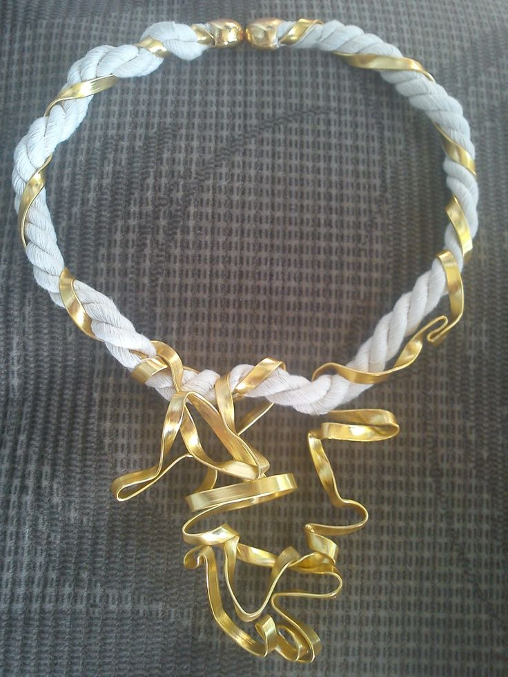 handmade necklace from nautical rope