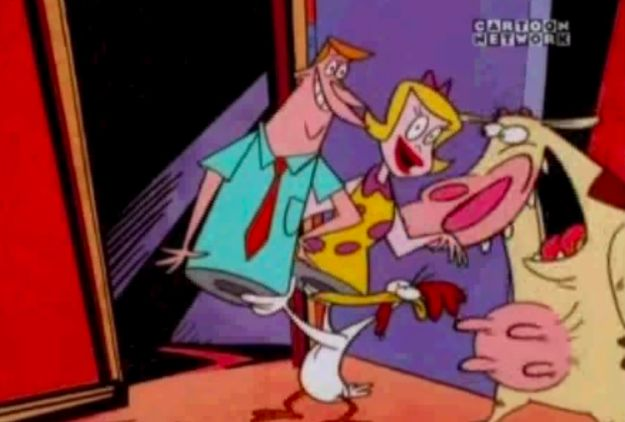 Was this what Cow and Chicken's parents REALLY looked like?