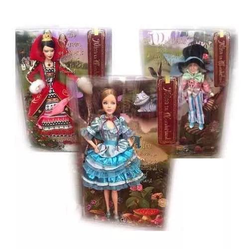 Barbie Collector Alice In Wonderland Pack X3  - $ 11.999,99