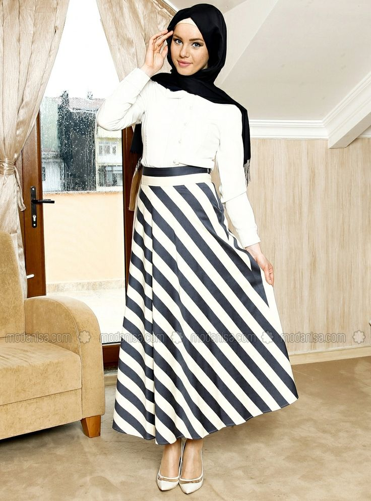Flared skirt - Navy - Kayra