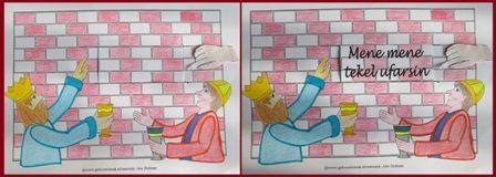 Het schrift op de muur (mene mene tekel ufarsin)