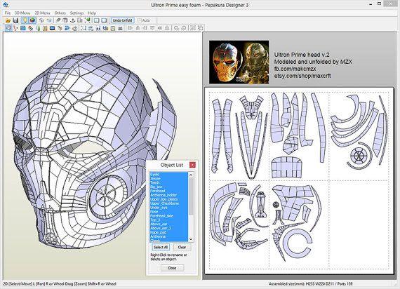 ULTRON Prime Head HD v2 (Pepakura file)