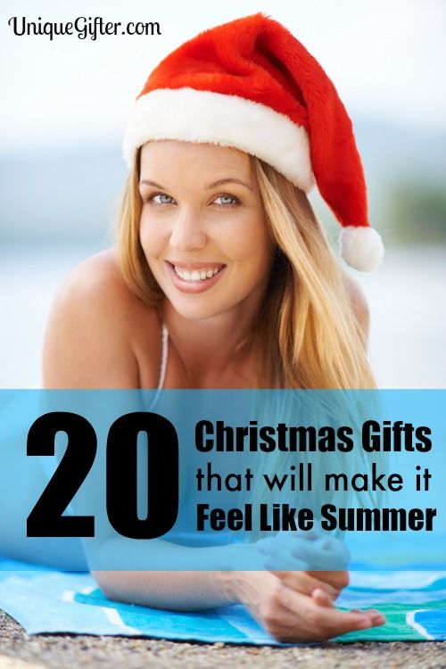I get so sick of winter weather! These Christmas gifts that will make it feel like summer are perfect for me.