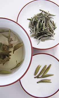 "Silver Needle White Tea. With a velvety texture Silver Needle is one of the ""Ten Best Tea in China"". In Chinese medicine Silver Needle can be drunk to reduce internal bodily heat."