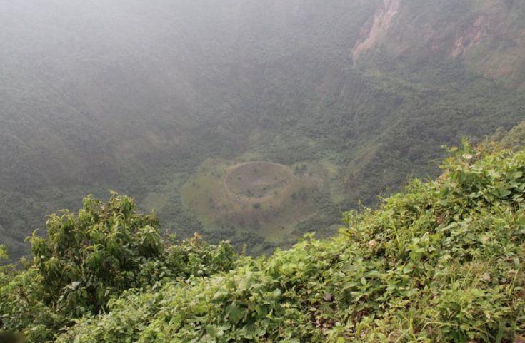 Boquerón crater is one of the chief attractions of the El Boqueron National Park in El Salvador