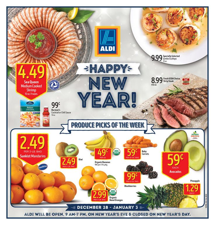 Aldi Weekly Ad December 28 - January 3 United States grocery circular
