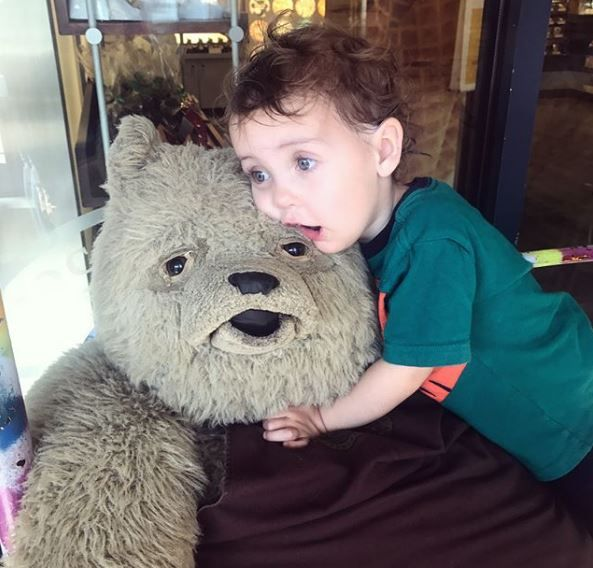 Looks like our mascot, Truffles the bear, found himself a new BFF at our Whistler location ❤️