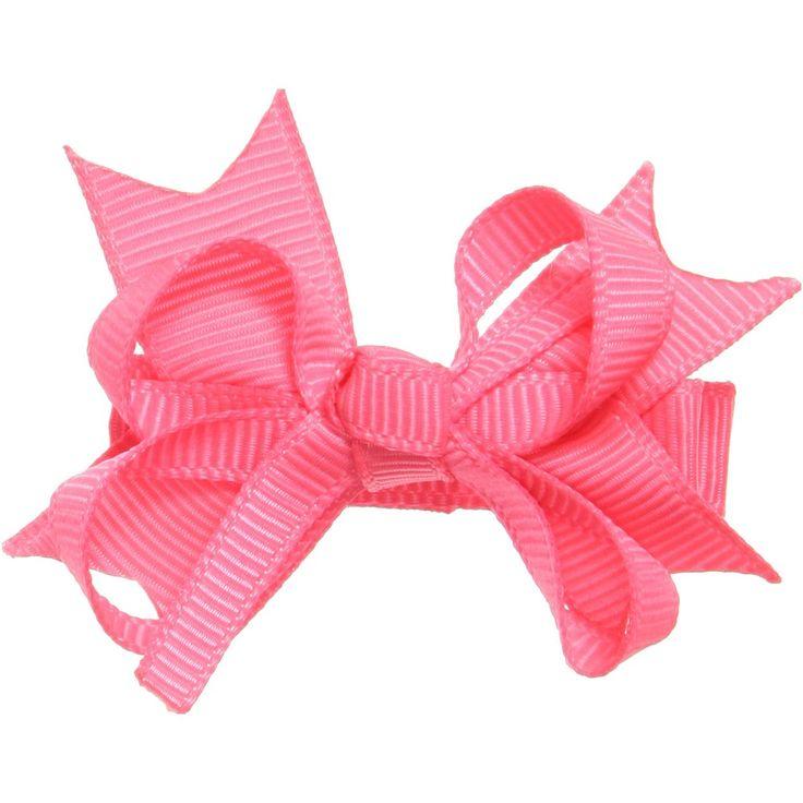Bowtique London Neon Pink Grosgrain Bow Hair Clip (4cm) at Childrensalon.com