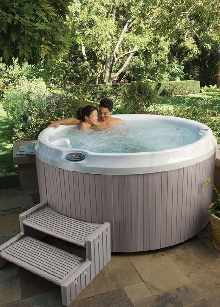 30 Incredible Hot Tub Suitable For Small Backyard Decor Renewal Round Hot Tub Jacuzzi Hot Tub Hot Tub