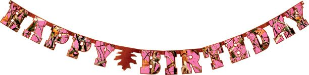 Camo Celebrations  - Pink Camo Birthday Banner, $5.99 (http://www.camocelebrations.com/pink-camo-birthday-banner/)