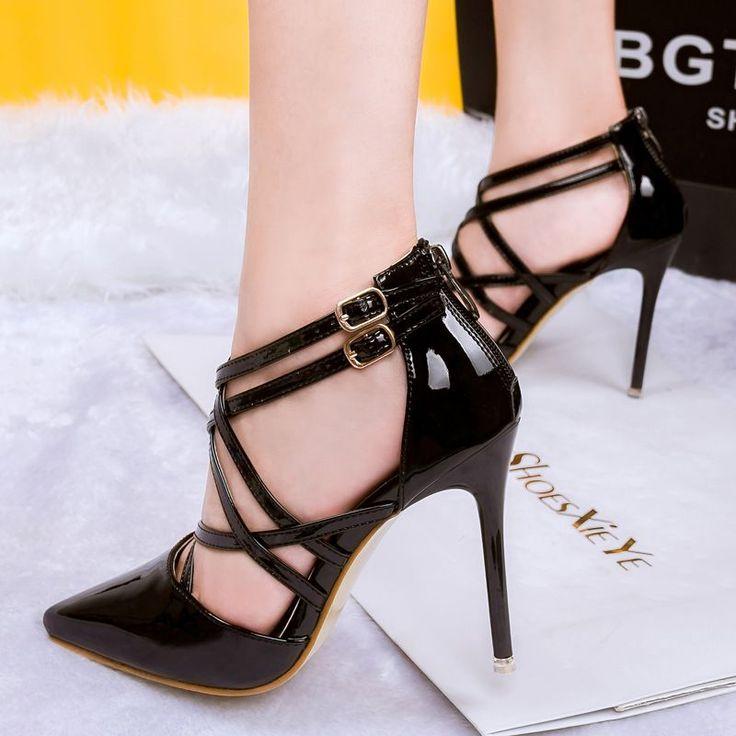 Barato 2016 nova preto vermelho ouro prateado mulheres sexy bombas lady moda sapato de bico fino sapatos de salto alto feminino sexy sandálias de salto de sapato, Compro Qualidade Bombas das mulheres diretamente de fornecedores da China: